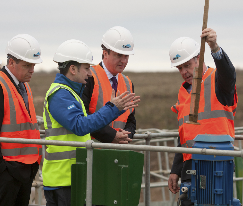 David Cameron at Sheehan Contractors' Dix Pit