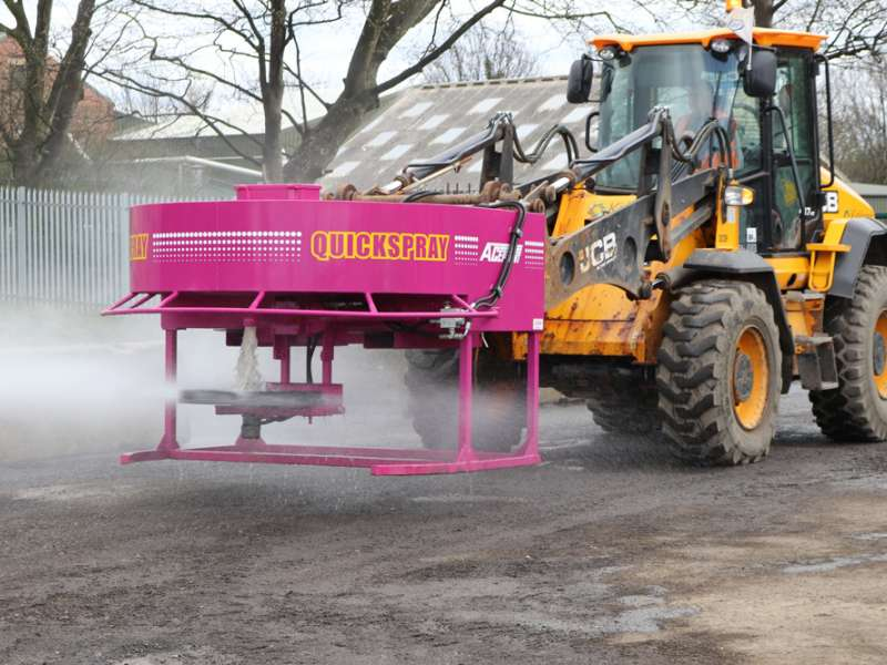 Quickspray dust-suppression unit
