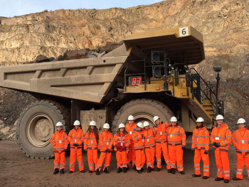 School visit to Aggregate Industries quarry