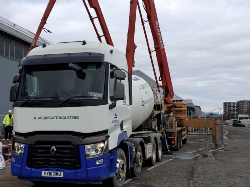 Aggregate Industries concrete delivery