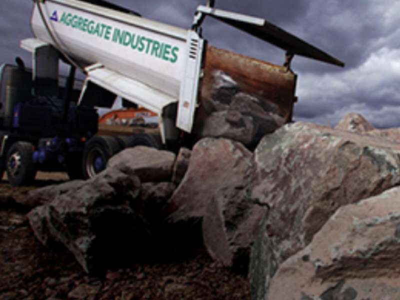 Aggregate Industries rock armour