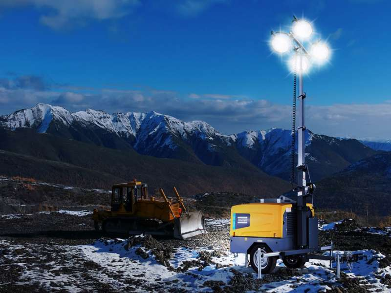 Atlas Copco HiLight V4W lighting tower