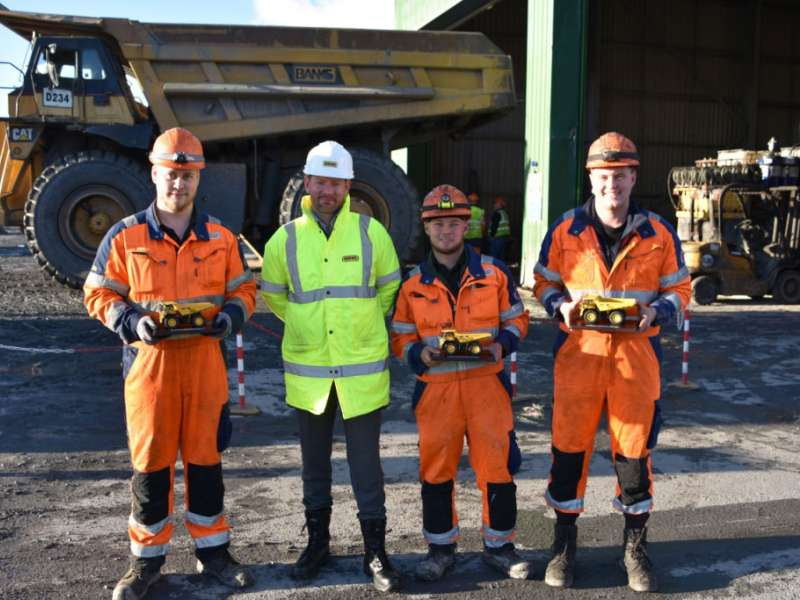 Banks Mining apprentices