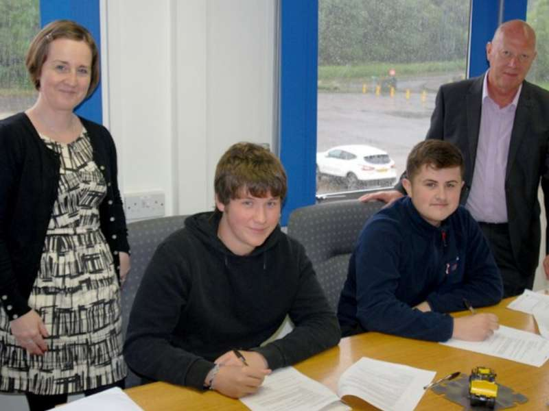 The Banks Group's two new apprentices
