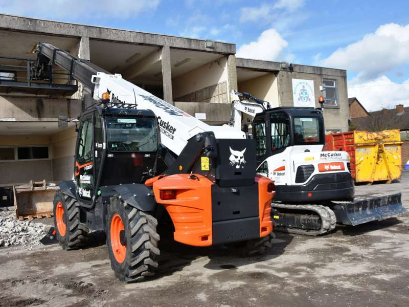 Bobcat high-lift telehandler and mini-excavator