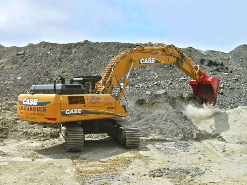 Case CX350C crawler excavator