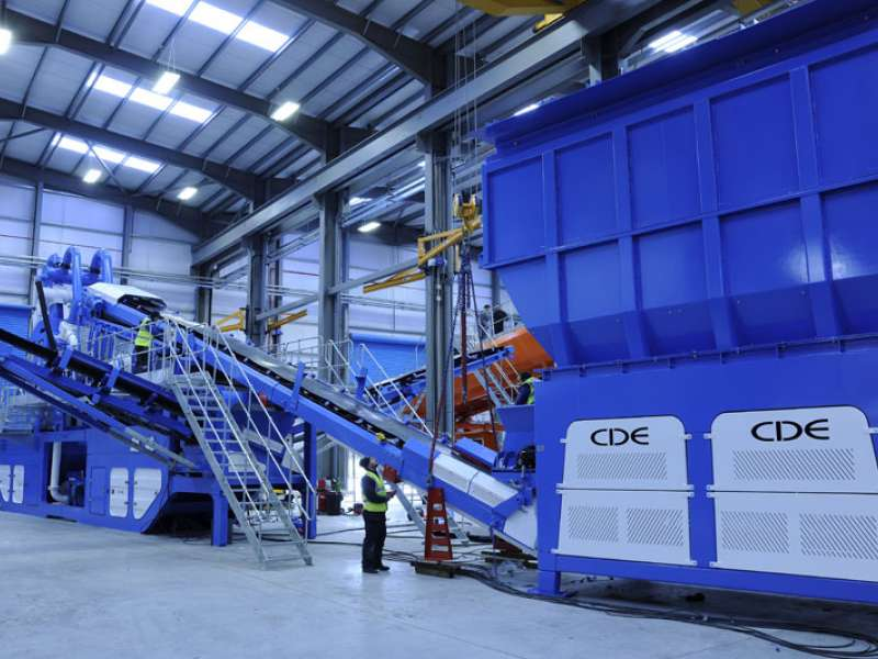 CDE's M4500 washing plant