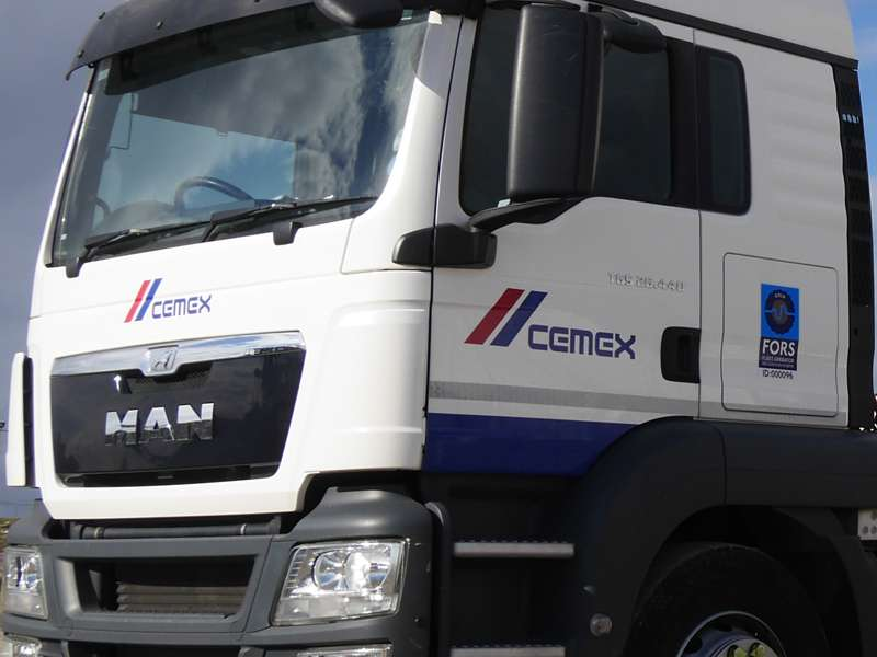 CEMEX cab with FORS logo
