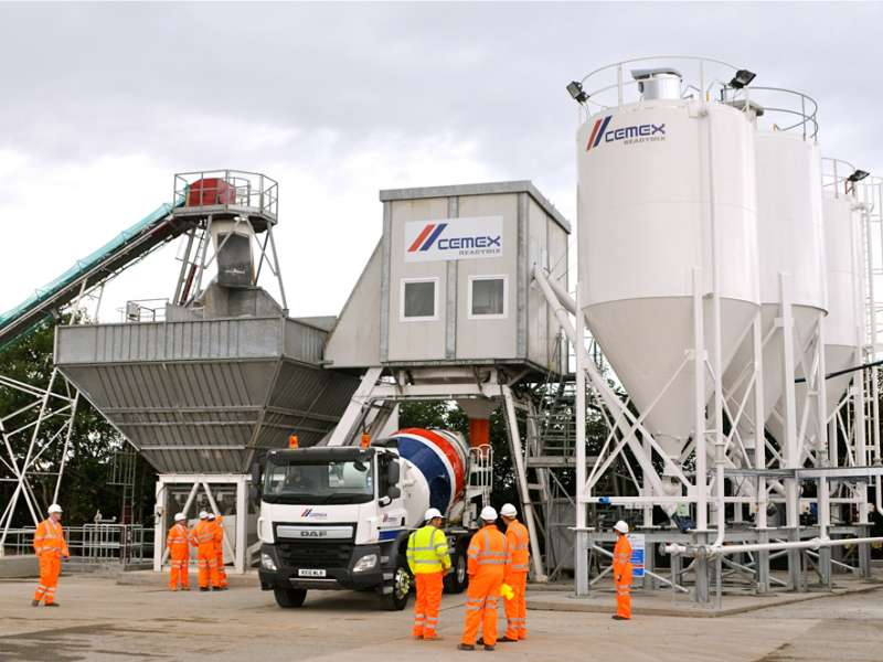 Cemex ready-mixed concrete plant