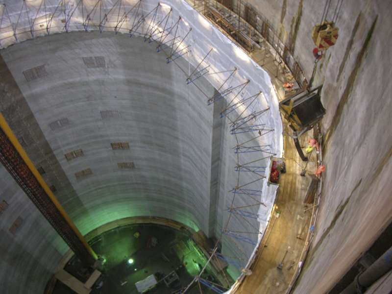 Slipform pour in Lee Tunnel