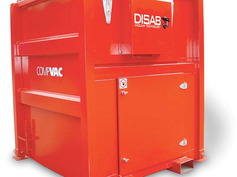 DISAB CompVAC industrial vacuum cleaning machine
