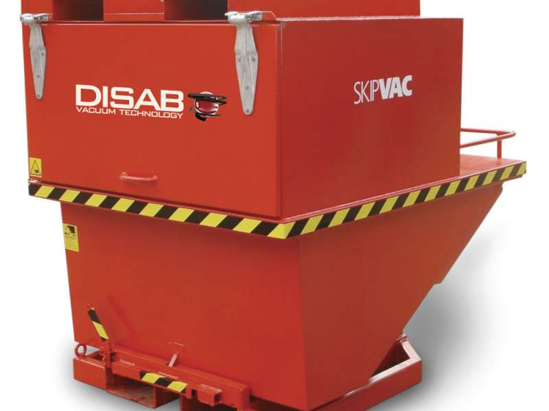 DISAB's SkipVac industrial vacuum unit