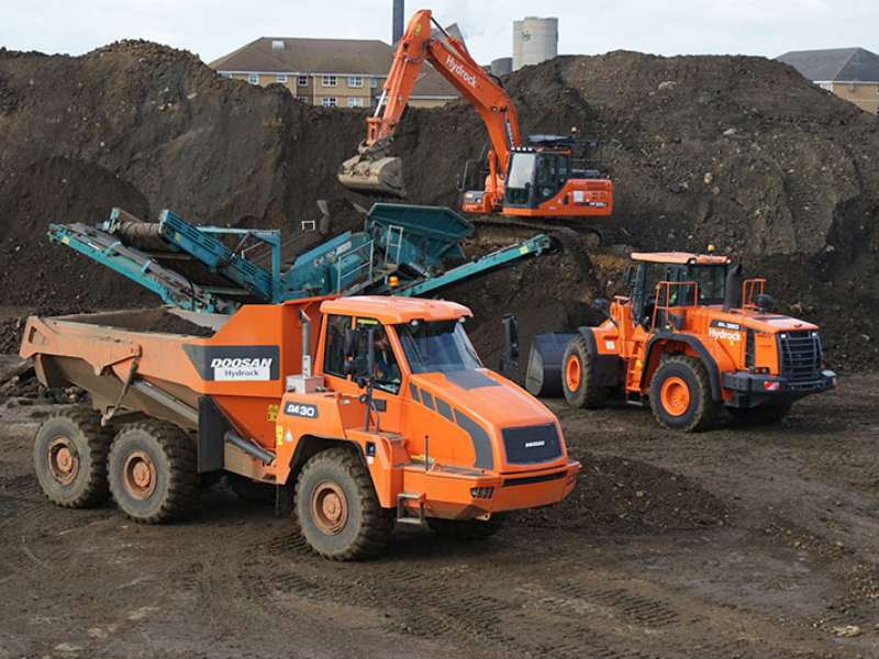 Doosan machines at work