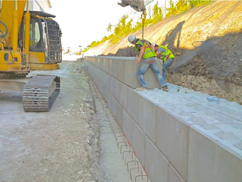Legato interlocking concrete blocks