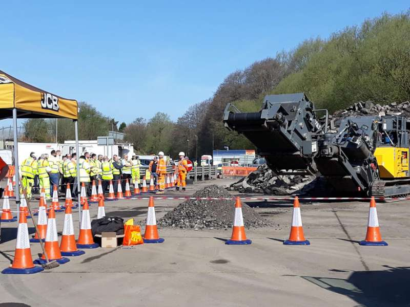Eurovia UK recycling demonstration day