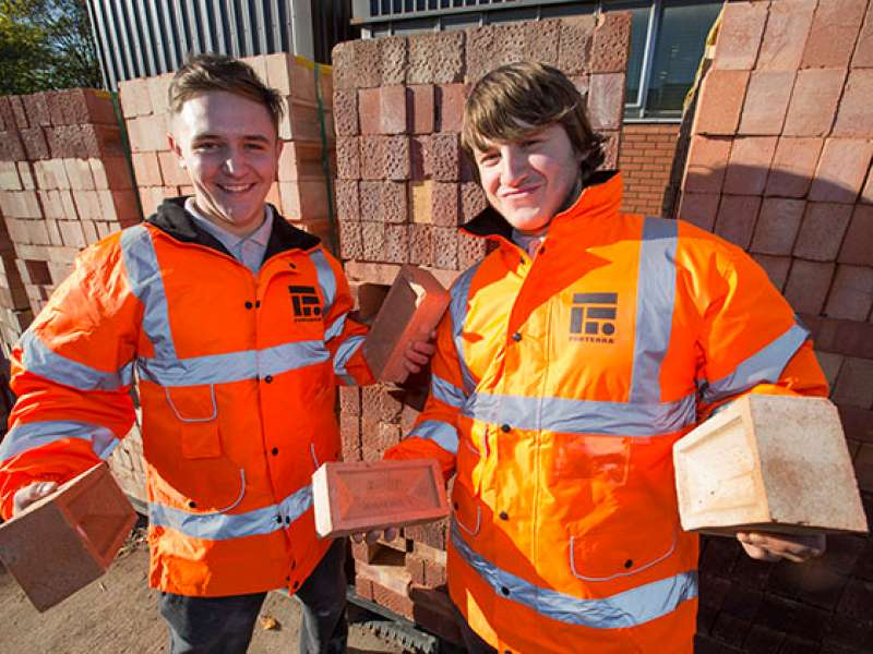 Forterra donate bricks to Leicester College