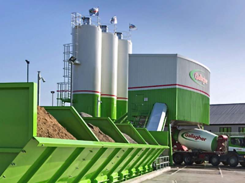 Ready-mixed concrete plant