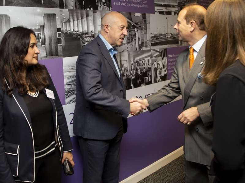 Graeme Boylen meeting HRH The Earl of Wessex