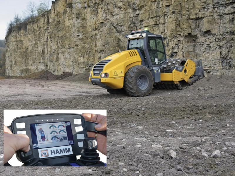 Remotely controlled Hamm compactor