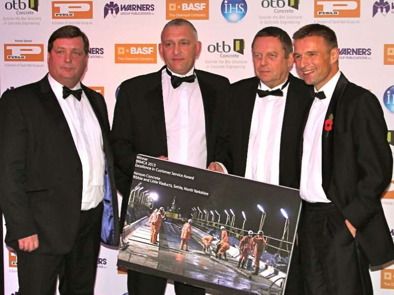 Hanson Concrete receive Gold medal at BRMCA Awards 2013