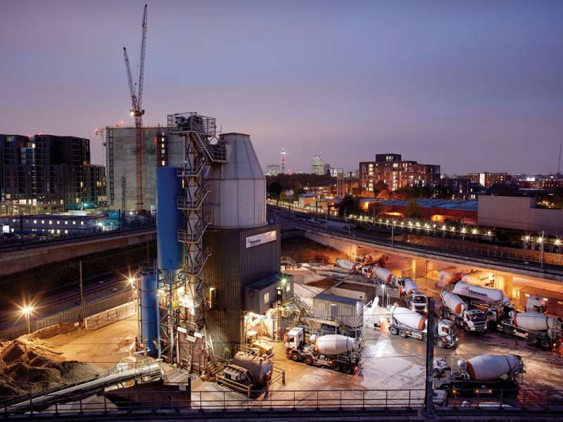 Hanson's King's Cross concrete plant