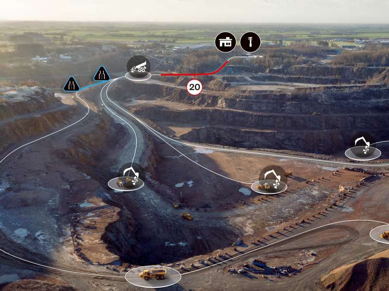 Volvo CE Haul Assist Map