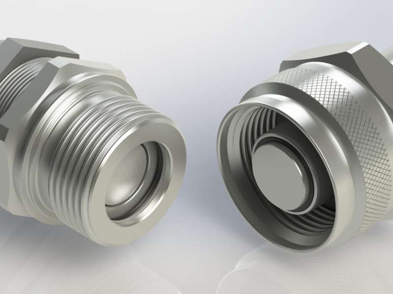 High-pressure flat-face screw couplings