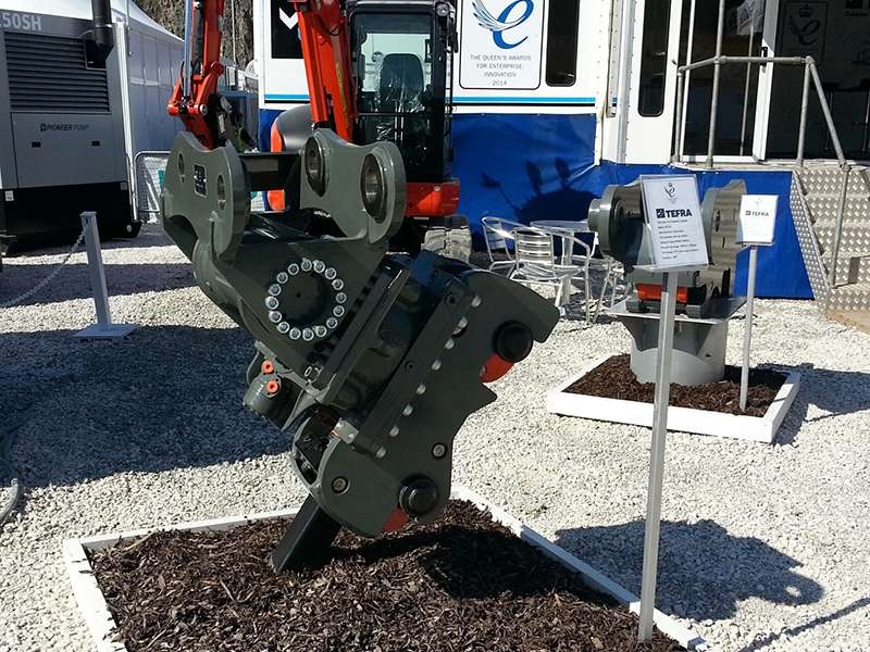 TEFRA Tilt coupler at Hillhead 2014
