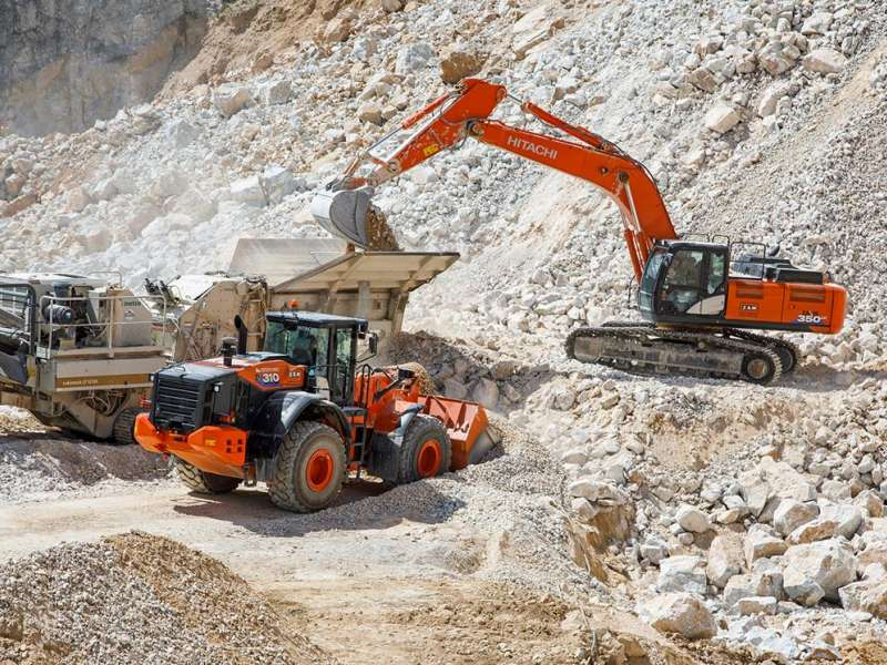 Hitachi ZW310-6 wheel loader and ZX350LC-6 excavator