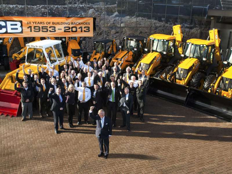 JCB celebrate diamond anniversary of backhoe loader