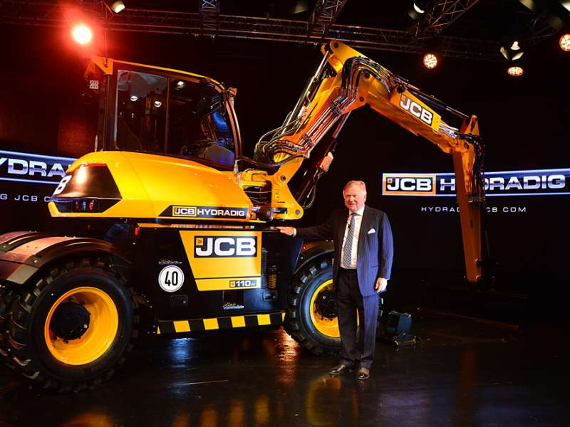 Lord Bamford with a Hydradig