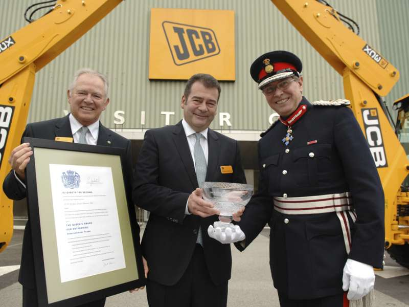 JCB receive Queen's Award