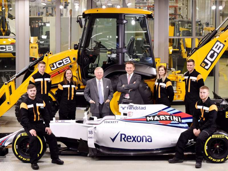 JCB enter partnership with Williams Martini Racing