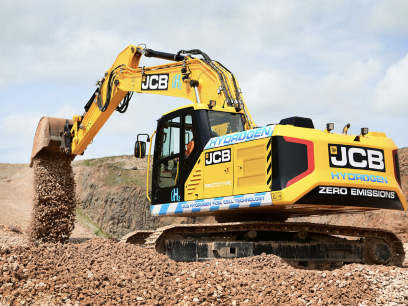 JCB hydrogen-powered excavator