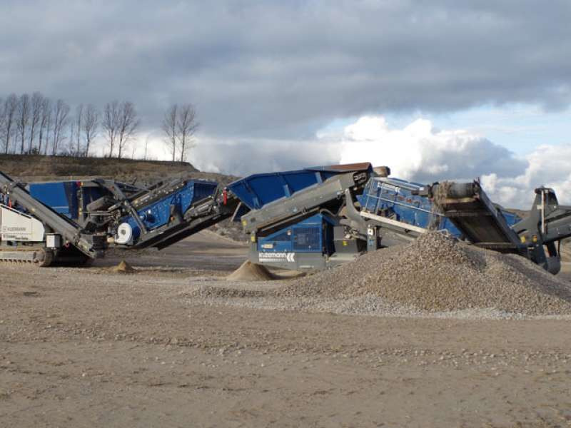 Kleemann crushing and screening equipment