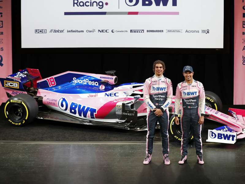 Lance Stroll and Sergio Perez