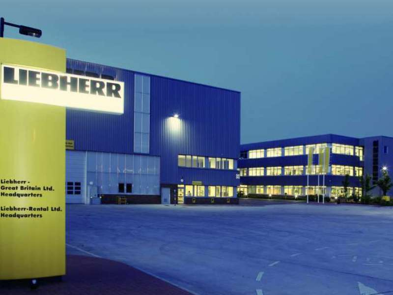 Liebherr Great Britain's existing headquarters in Biggleswade