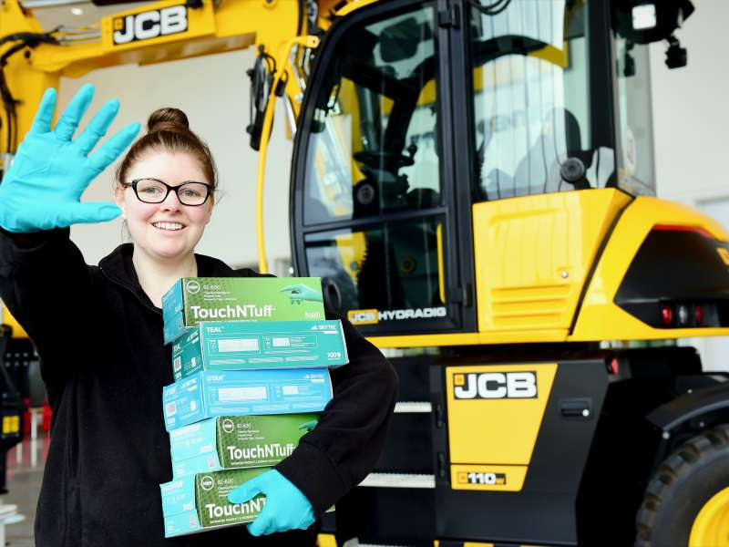 JCB donate gloves