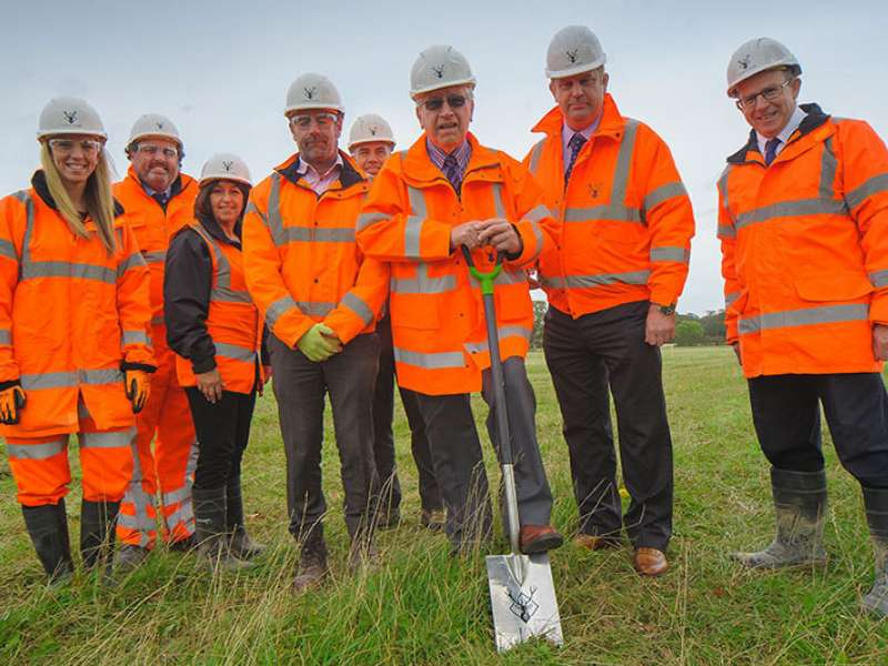 Construction work starts at Roke Manor Quarry