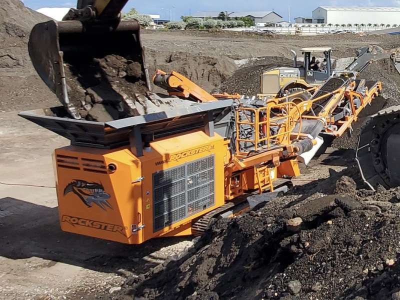 Rockster R700S mobile crushing plant