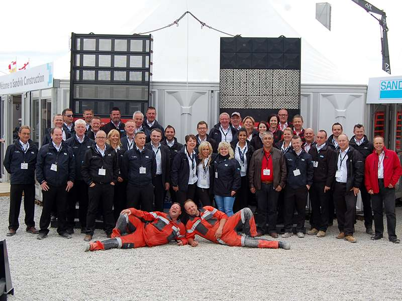 Sandvik staff at Hillhead 2014