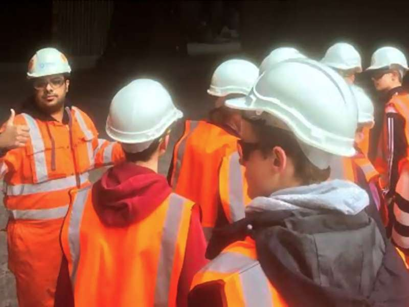 Visitors to Dunbar cement plant