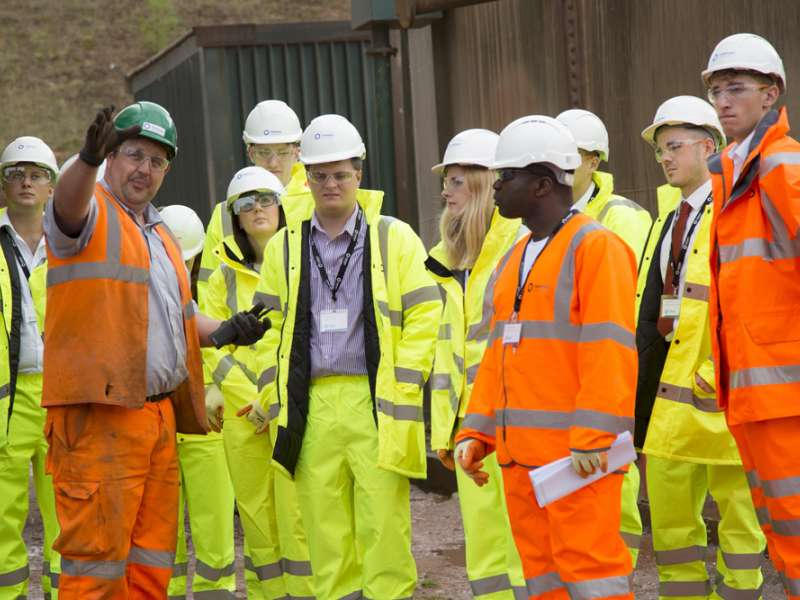 Tarmac workers