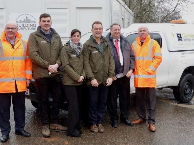 Tarmac handover to Cheshire Wildlife Trust