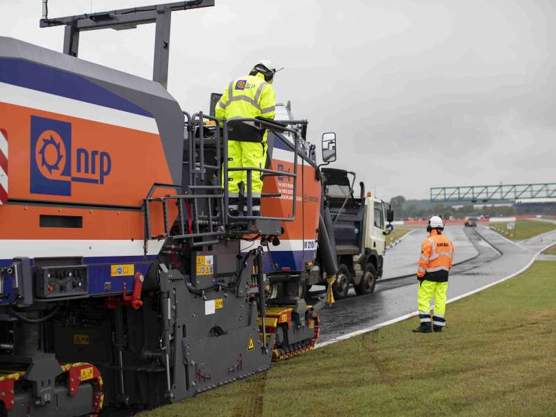 Resurfacing at Silverstone