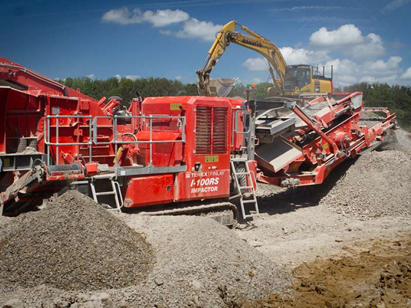 Terex Finlay I-100RS impact crusher