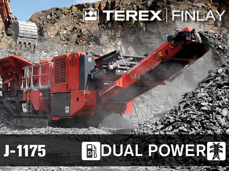 Terex Finlay J-1175 dual-power jaw crusher