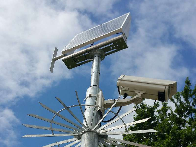 Solar-powered CCTV
