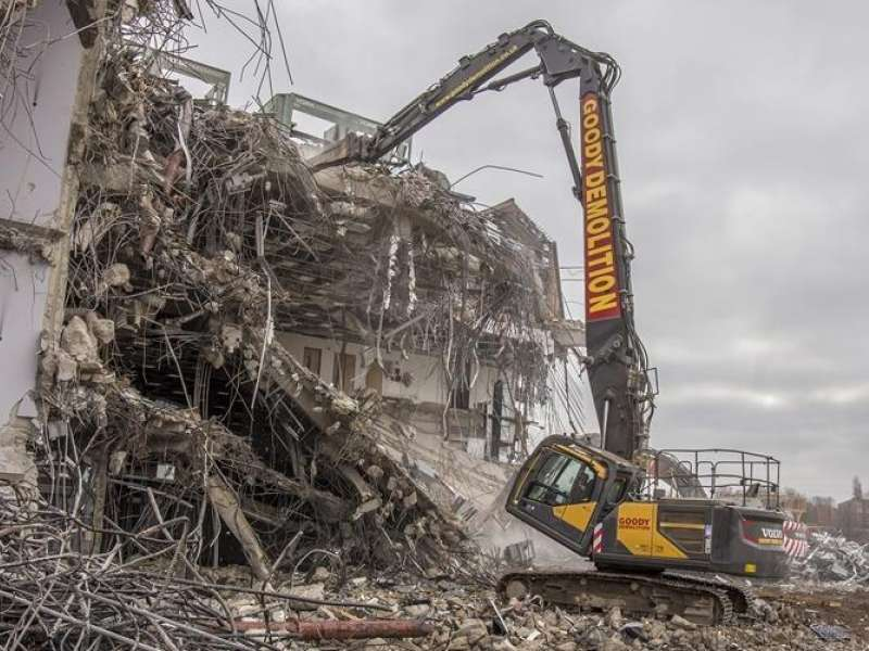 Volvo high-reach excavator
