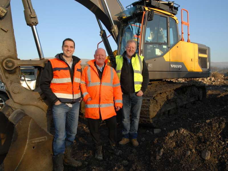 Stewart McNeish, Gerry Sweeney and Volvo area business manager Gerry Logue